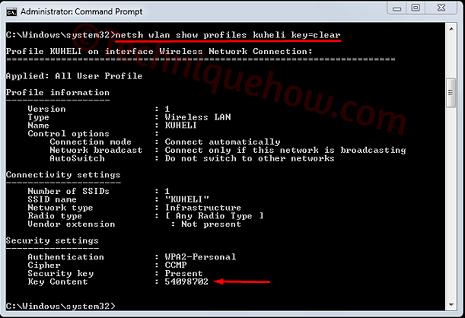 Find Saved WiFi Password on Windows 10 disconnected cmd
