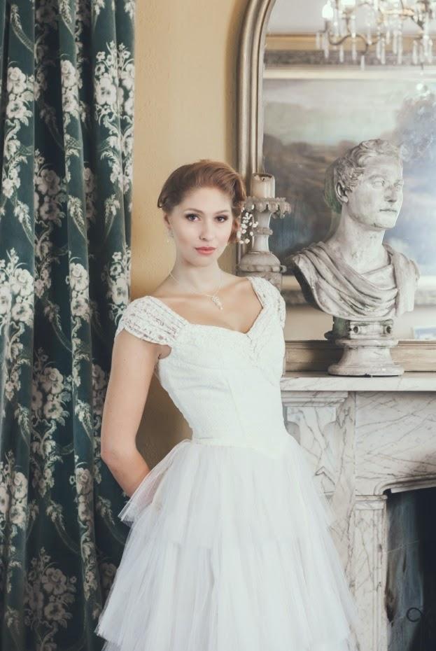 Heavenly Vintage Wedding Dresses and Judith Brown jewellery