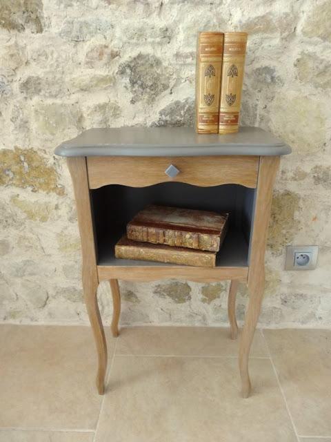 Diy faire votre table de chevet en bois patin maison - Table de chevet fait maison ...