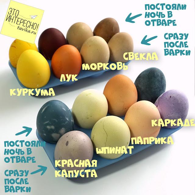 натуральное окрашивание яиц