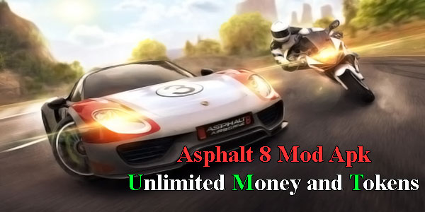 Asphalt 8 Mod Apk Unlimited Money and Tokens