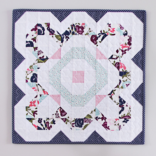 Full Bloom Mini Quilt designed by Bridgette McNay of The Family Hearth
