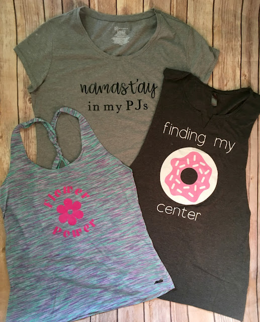 Live your best life by making a yoga themed shirt collection using my custom designs in Cricut Design Space!