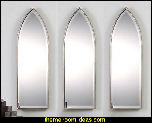 "Cathedral Window Pointed Arch 38"" Wall Mirror 