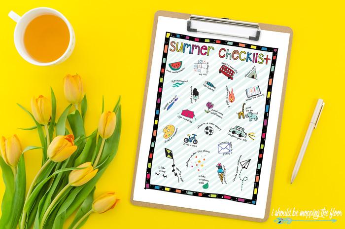 Kids' Summer Checklist