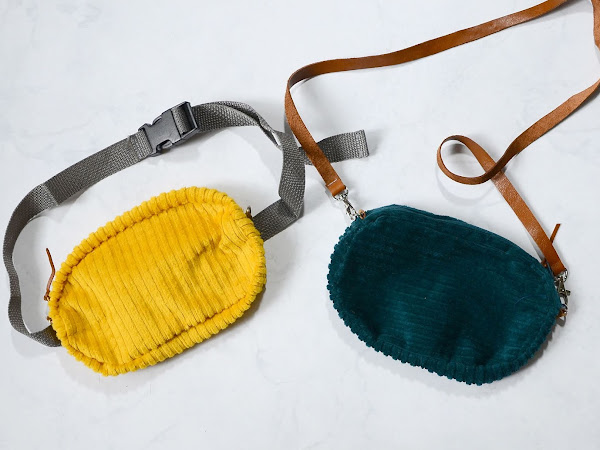 How to Sew a Corduroy Fanny Bag or a Corduory Purse