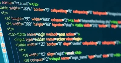 display of code for optimized web design