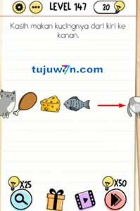 Level 147 jawaban kasih makan kucingnya dari kiri ke kanan brain test