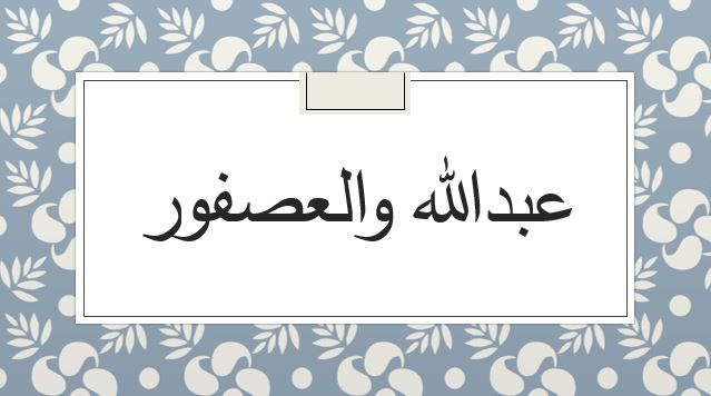 Abdullah wal usfur