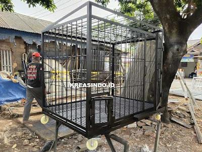 Kandang Besi untuk Anjing Kintamani pesanan Bpk Gunawan di Cengkareng Jakarta - Order Kedua