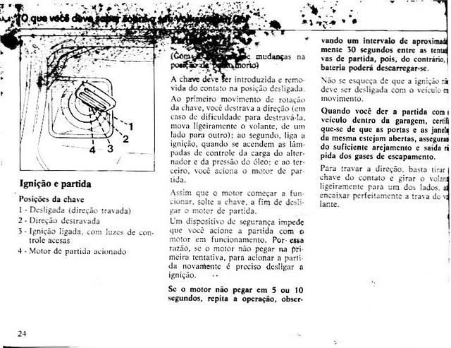 MANUAIS DO PROPRIETÁRIO: MANUAL DO VW GOL BX 1985