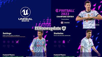 PES 2021 Menu Mod eFootball 2022 Champions Edition by PESNewupdate