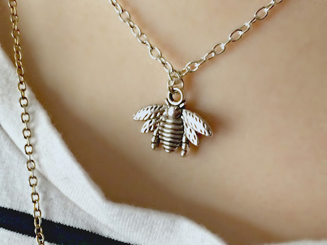 bee necklace by teardrop designs