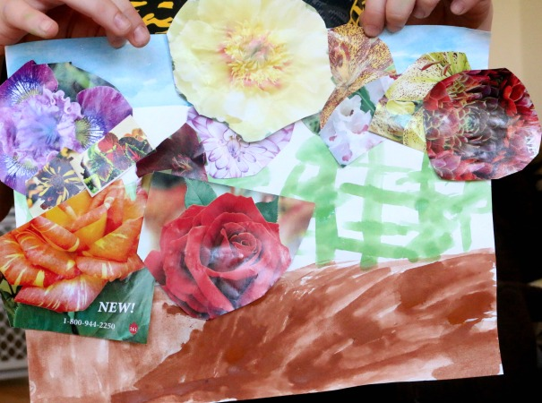 planting a rainbow collage