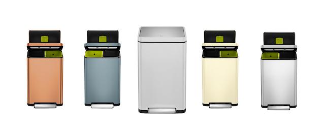 EKO X Cube Recycling Bin range of colours