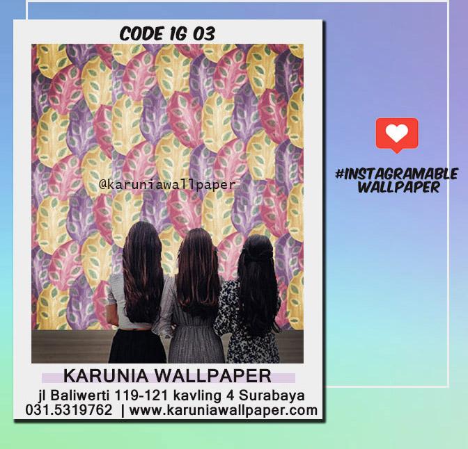 jual dinding wallpaper warna warni lucu instagrammable
