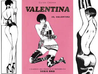 Erotic imagery was central to the success of Crepax's most famous character, Valentina