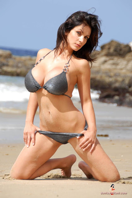 Denise-Milani-Beach-Silver-bikini-hottest-photoshoot-pics-33