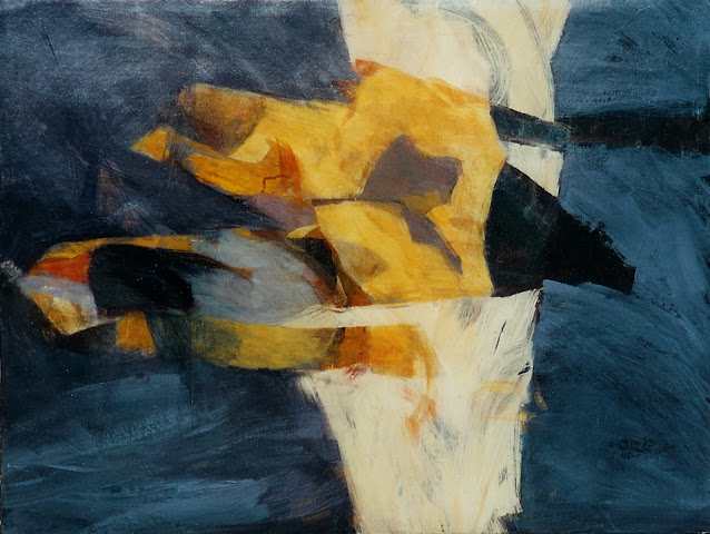 Wrestling with a Concept - Abstract Painting - Rosemary Marchetta