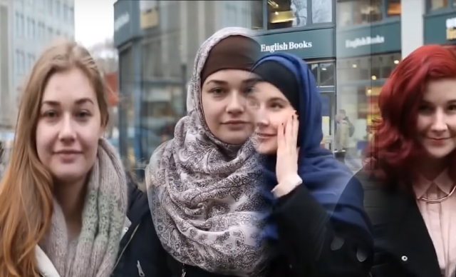 SUBHANALLAH!!!Begini Reaksi Non Muslim Swiss Ketika mencoba Mengenakan Hijab