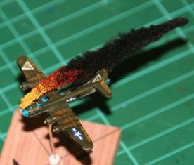 B17 Bomber Plane Fire Flames 1/600 Tumbling Dice Marker