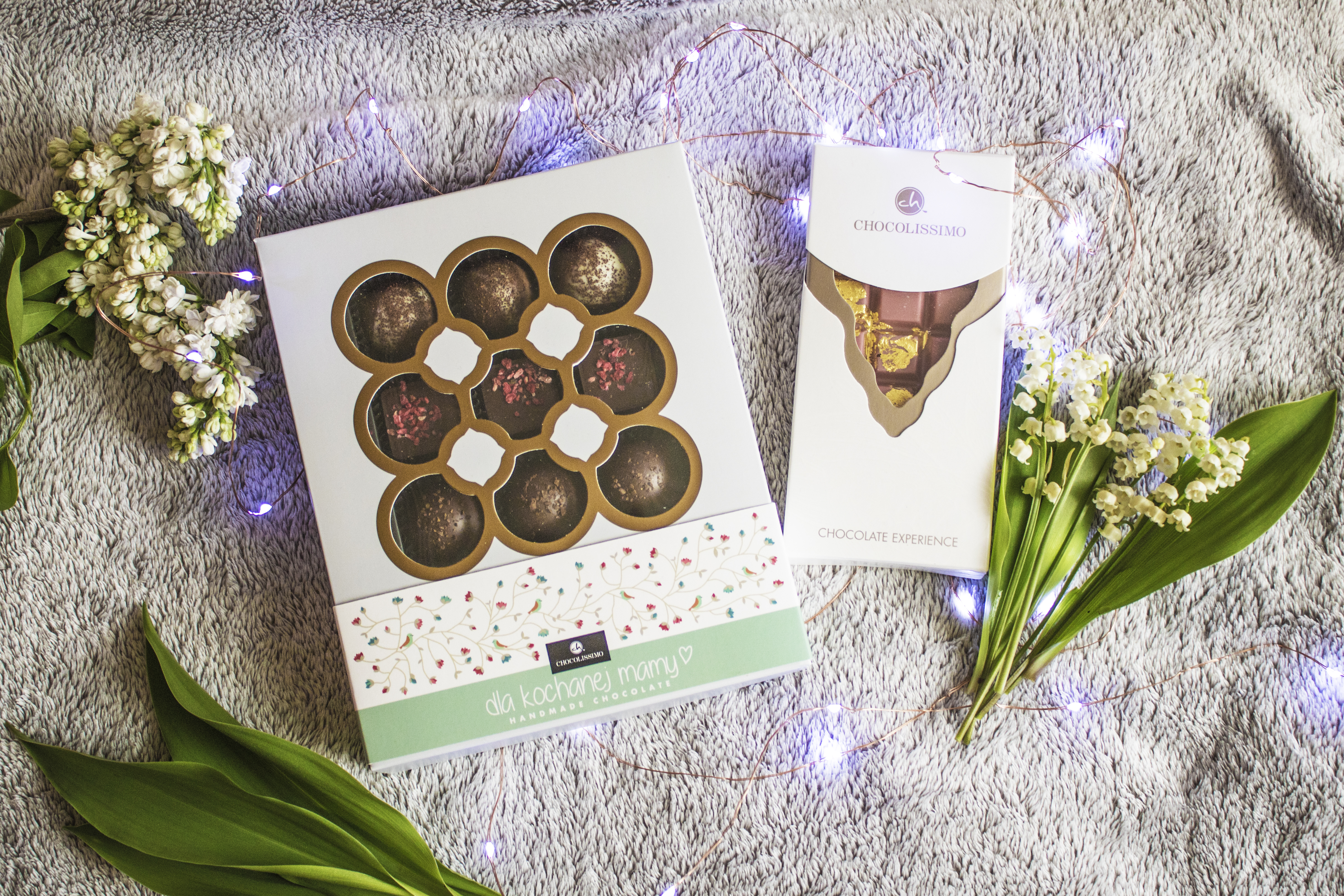 czekoladki, prezent na dzień matki