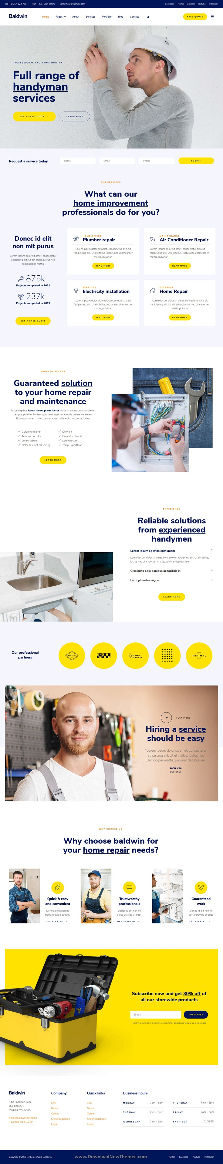Handyman & Repair Services Elementor Template Kit