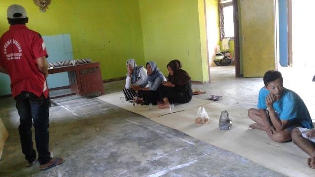 Foto pembentukan stuktur Taman Baca Pelangi Nusantara, November 2018