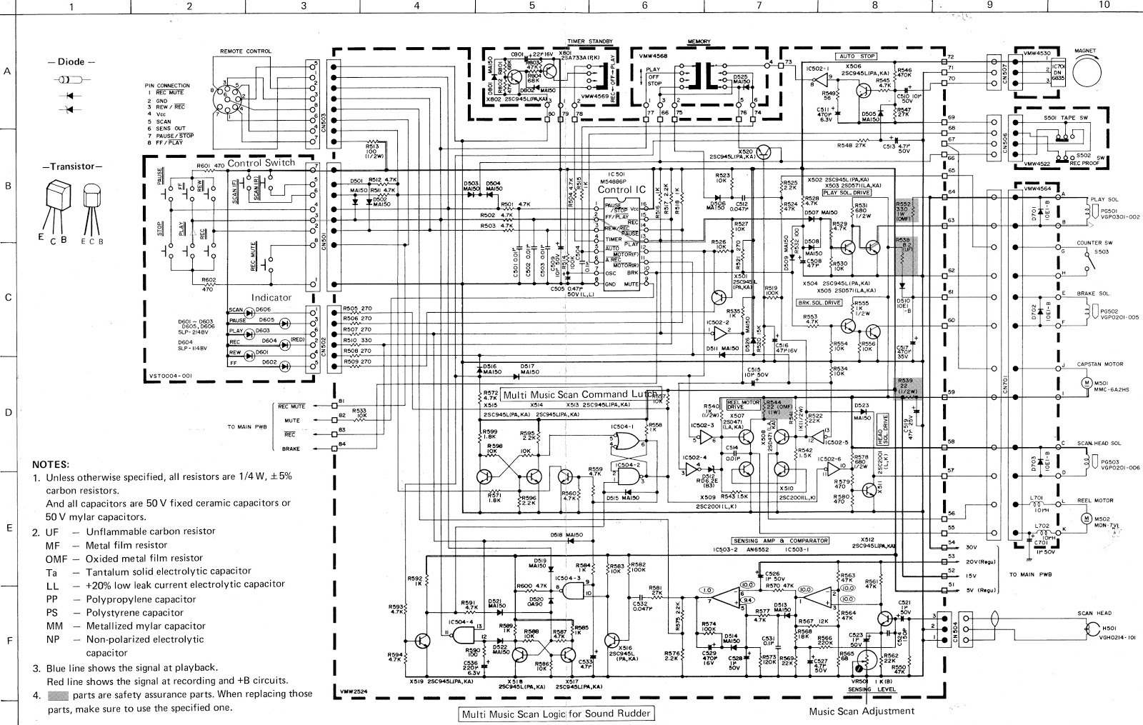 JVC KD A55  Gradient CD6500  Tape deck  Circuit Diagram