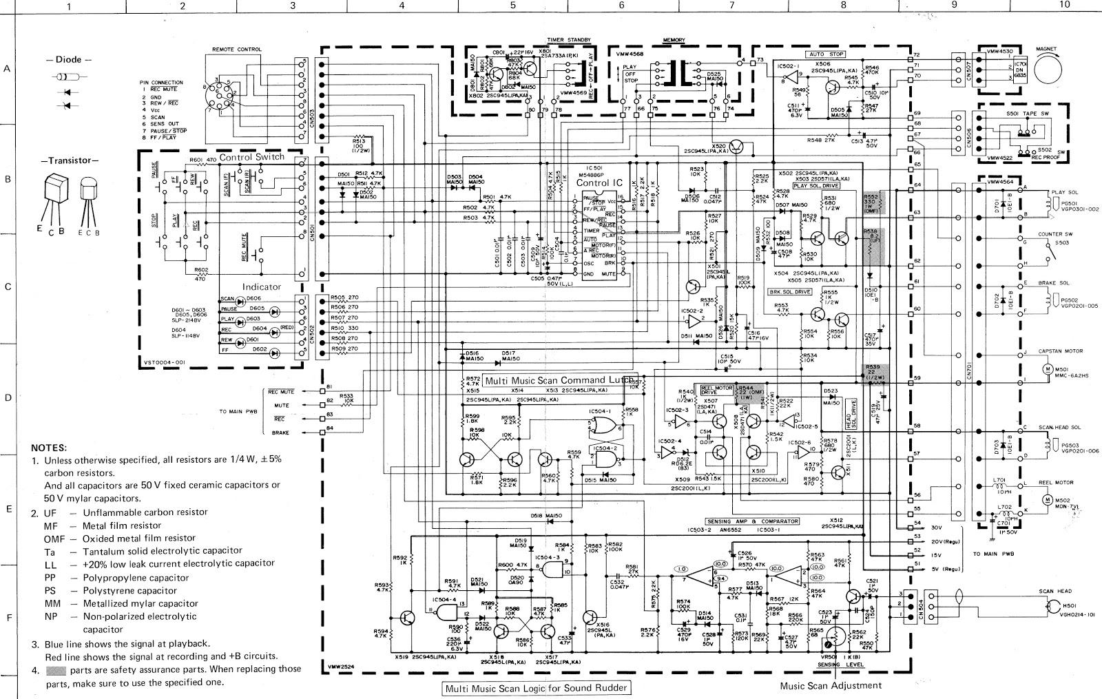 JVC KD A55  Gradient CD6500  Tape deck  Circuit Diagram