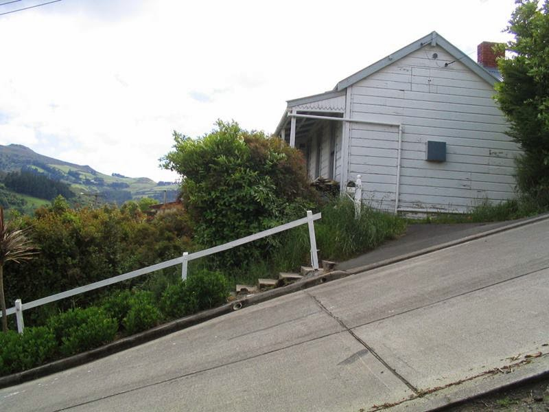 The world's steepest urban street, Baldwin Street, in Dunedin, New Zealand. Its slope reaches 35 percent or 19°, Which means that the distance 2.86 meters road rises by one meter. Baldwin Street is located in the North East Valley.