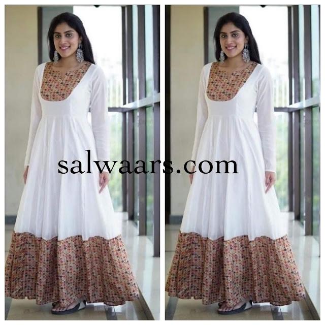 Dhanya Balakrishnan White Salwar Kameez