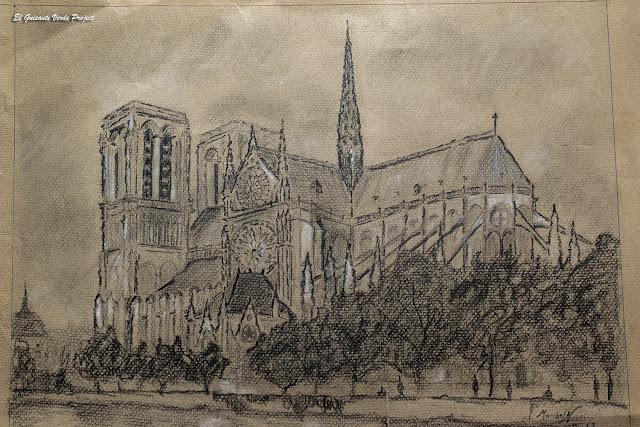 Carboncillo Catedral de Notre Dame, Parísvpor El Guisante Verde Project