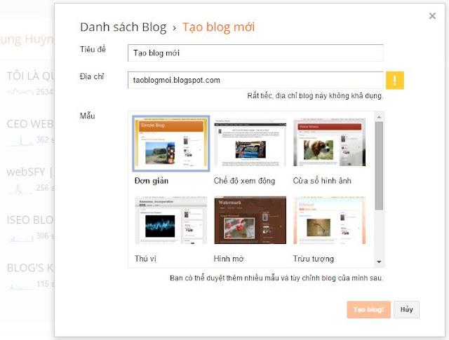 Cách tạo blogger trong 10 phút