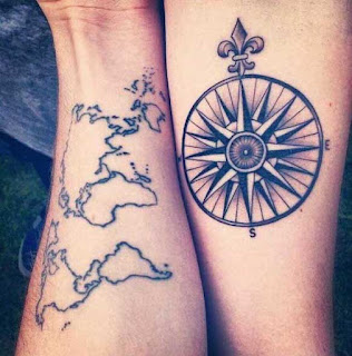 tatuaje rosa de los vientos 3