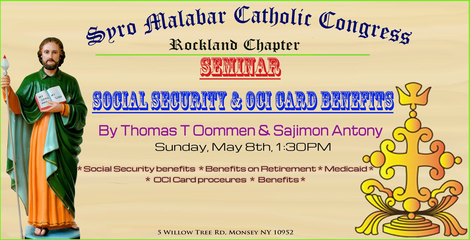 St Mary S R C Church Rockland Reminder Social Security And Oci Card Benefits Seminar