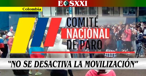 Comité de Paro Nacional anuncia que irá por más victorias ciudadanas