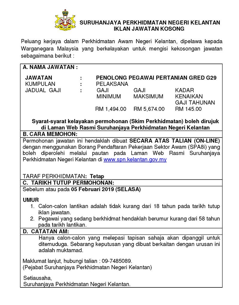 Jawatan Kosong di Suruhanjaya Perkhidmatan Negeri Kelantan ...