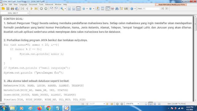Download contoh soal pppk skb IT dan kunci jawaban