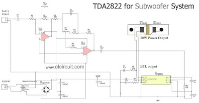 How to make subwoofer using IC TDA2822