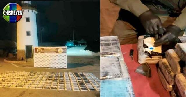 Encuentran 205 panelas de cocaína en un barco abandonado en Falcón