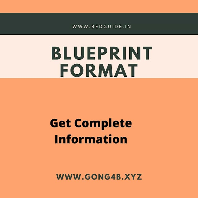 What is Blueprint in Education: Meaning, Format & Questions
