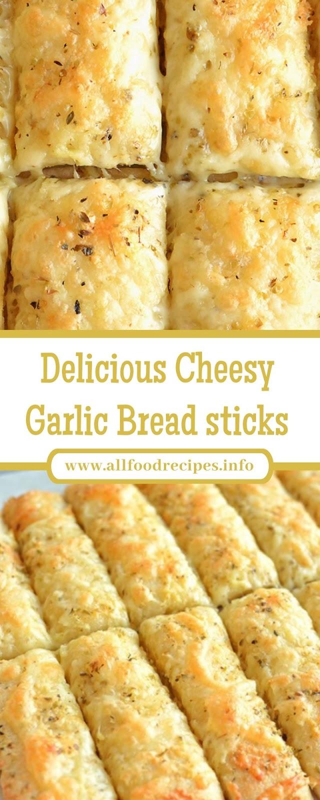 Delicious Cheesy Garlic Bread sticks