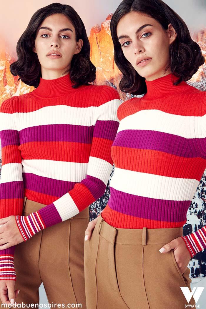 sweater a rayas polera tejida invierno 2021