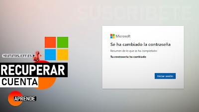 Como Recuperar Contraseña de Microsoft
