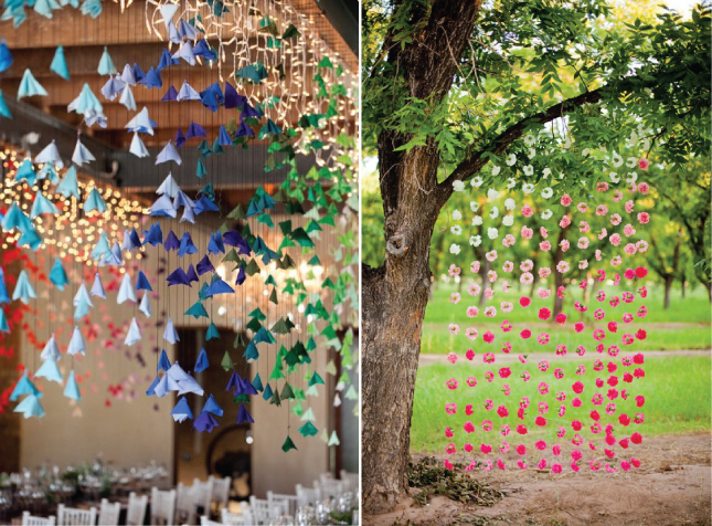 Wedding trends hanging wedding decor part 2 belle for Decorating outdoor trees
