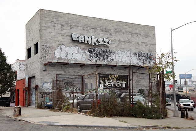 """Throw-Up"" last piece by Banksy for ""Better Out Than In"" In Queens, New York City. 1"