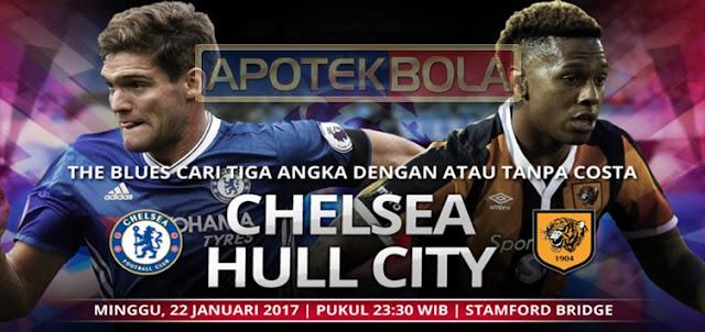 Prediksi Pertandingan Chelsea vs Hull City 22 Januari 2017