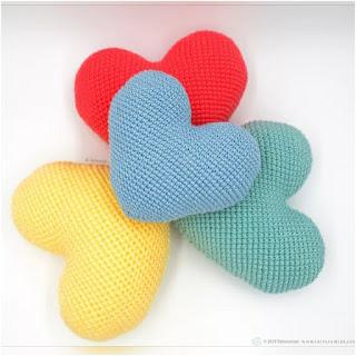 patron amigurumi Corazón de crochet tarturumies