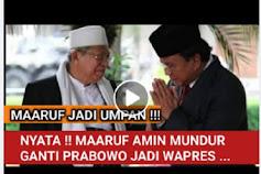 [Cek Fakta] Wakil Presiden Ma'ruf Amin Mundur dan Digantikan Prabowo? Ini Faktanya